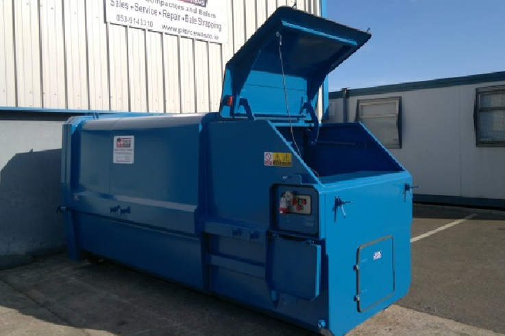 Chain Lift Skip Pack Portable Waste Compactor With End