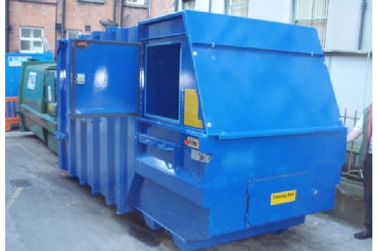 Chain Lift Skip Pack Portable Waste Compactor With Side & Decorate Your Door and Windows | Door and Window Design ...